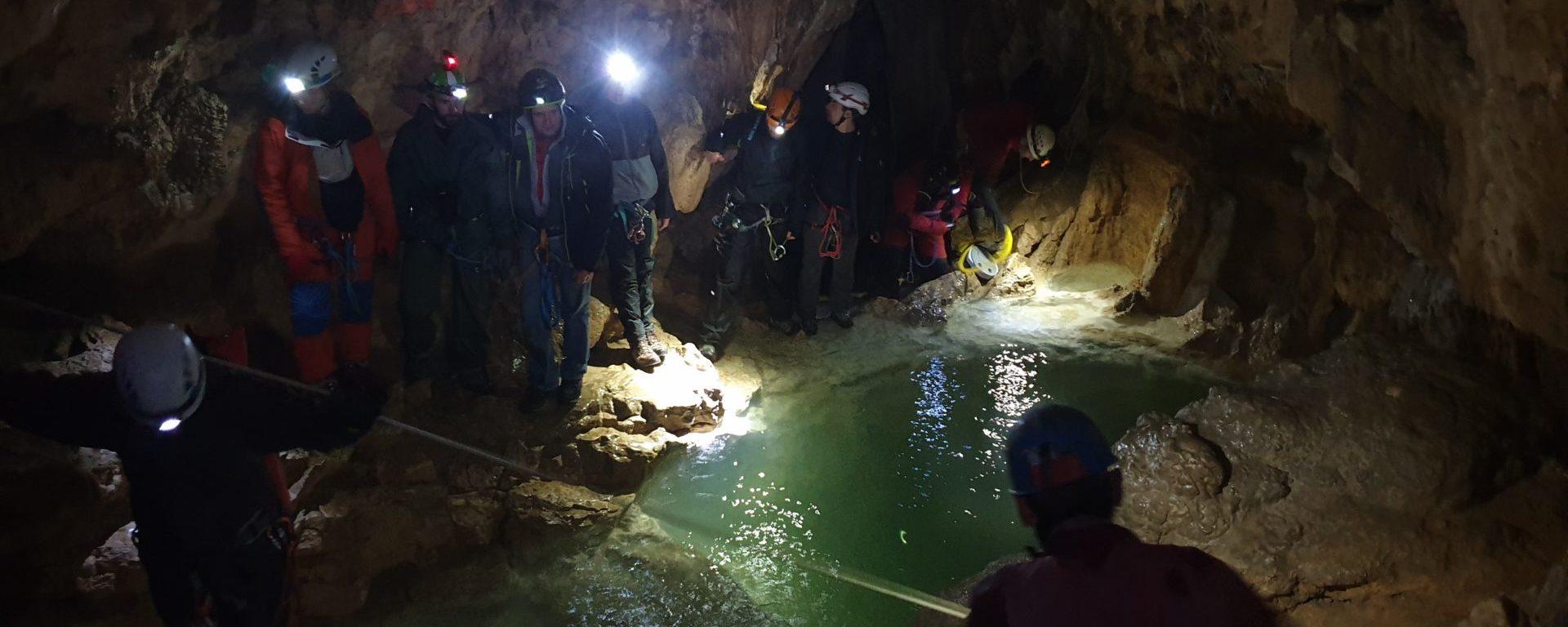 Visite de la grotte de Gournier.